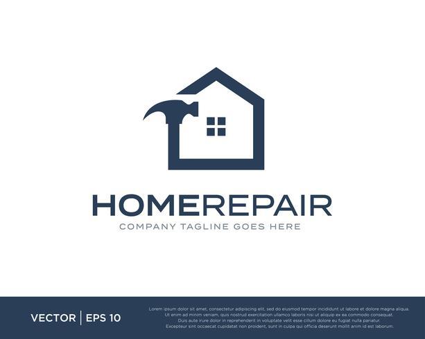 Home Repair Build Logo Icon Vector