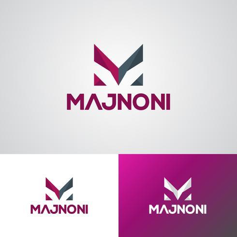 Corporate M Logo ontwerpsjabloon