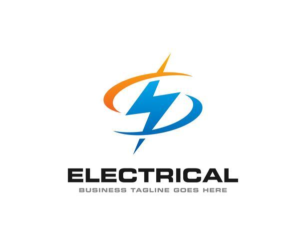 Tonnerre électrique Logo Icon Vector
