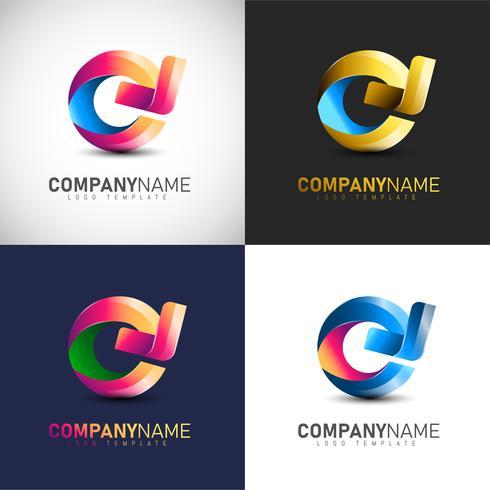Abstracte 3D cirkel pijl logo sjabloon voor uw bedrijfsmerk