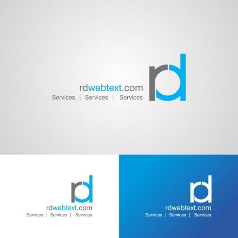 Plantilla de diseño de logotipo corporativo RD