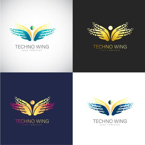 Logo abstrait 3D papillon Modèle pour la marque de votre entreprise
