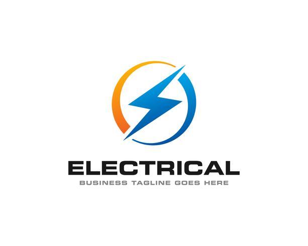 Elektrische Thunder Logo Icon Vector