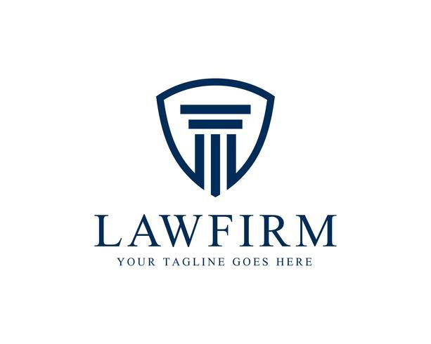 Vettore del modello di logo della colonna dello studio legale