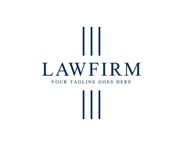 Law Firm Pillar Logo Template Vector