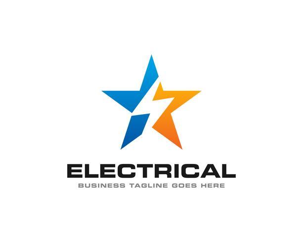 Elektrisk Thunder Logo Ikon Vector