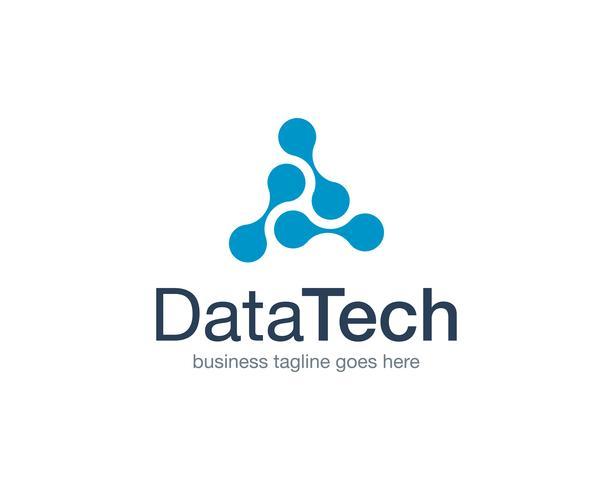 Vetor de ícone de logotipo de tecnologia de dados
