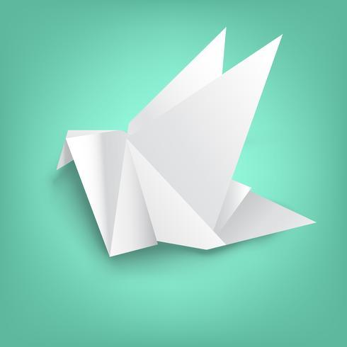 sabiduría en el plegado de papel de aves vector