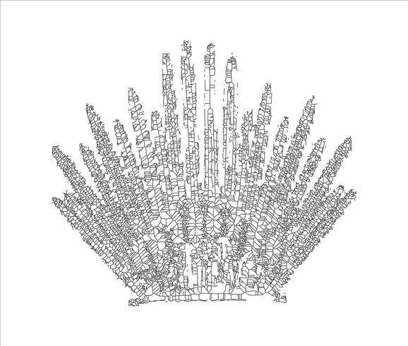 IJzeren troon voor ontwerp van computerspellen. EPS-10 vectorillustratie.