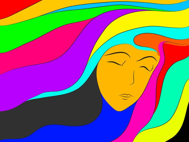 colorful dream abstract vector