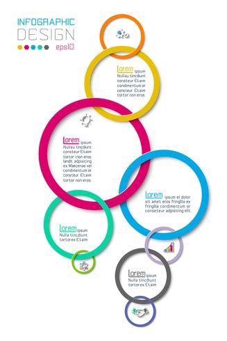 Opciones de paso de negocios y plantilla de opciones de número de infografías abstractas. vector
