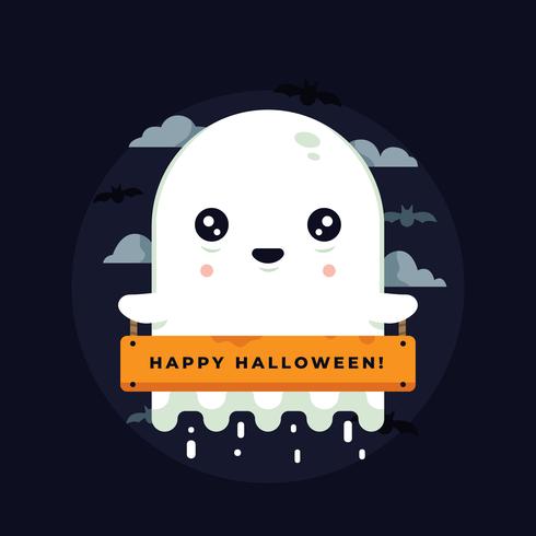 Fantasma de halloween vector
