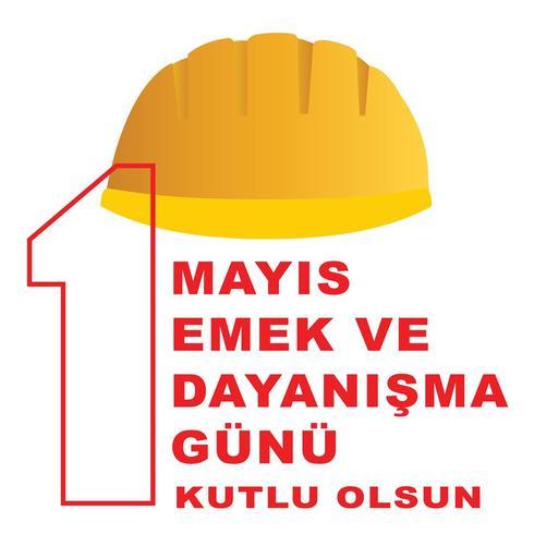 1 mai postervector de la fête du travail. La fête turque le 1er mai est une journée de travail et de solidarité. Traduction du turc: une journée de travail et de solidarité.