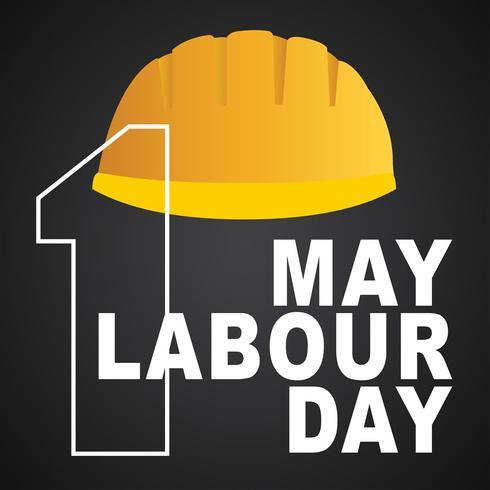 1 puede cartel día del trabajo, ilustración vectorial, bandera feliz día del trabajo. 1 de mayo. Plantilla de diseño Ilustración vectorial - Vector de