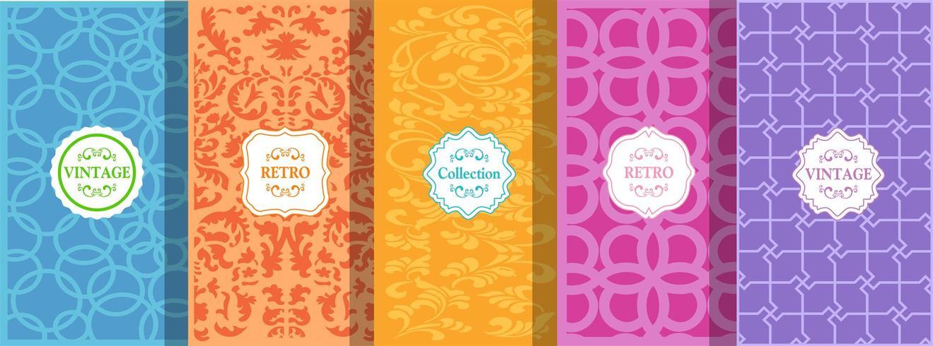 conjunto de patrones sin fisuras brillantes lindos vector ilustración brillante diseño abstracto sin fisuras.
