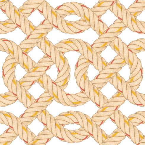 Seamless pattern with rope bending. vector
