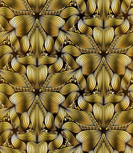 Abstracto sin fisuras patrón geométrico de oro vector