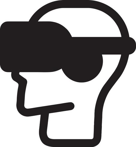 El hombre que lleva el mundo del vr del extracto de las auriculares de la realidad virtual con las líneas vector el ejemplo.