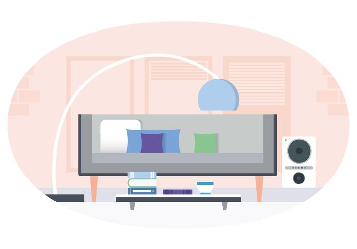 Vektor Wohnzimmer Illustration