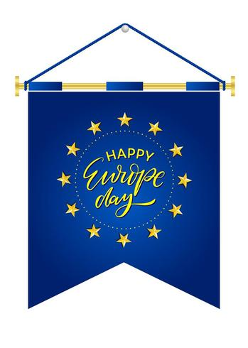Europe Day. Annual public holiday in May. Is the name of two annual observance days - 5 May by the Council of Europe and 9 May by the European Union. Poster, card, banner and background. Vector - Vektör