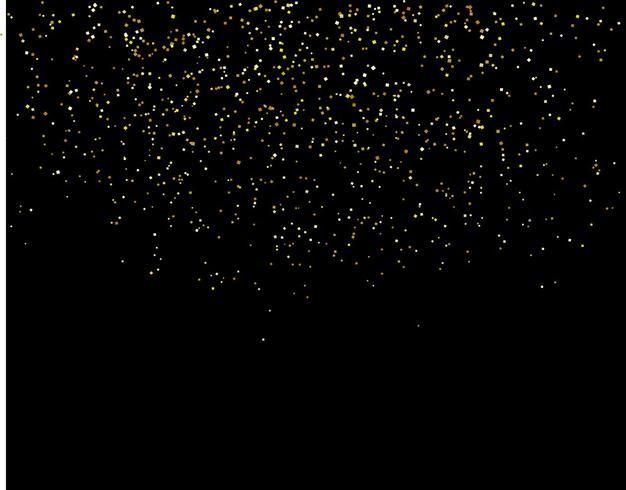 chutes d'eau paillettes d'or sparkle-bubbles particules de champagne étoiles concept de vacances bonne année fond noir.