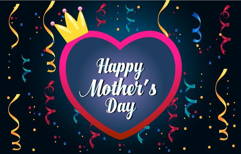 Tarjeta de felicitación del día de la madre. Feliz día de la madre s caligrafía elegante banner letras texto vector en el marco de fondo.