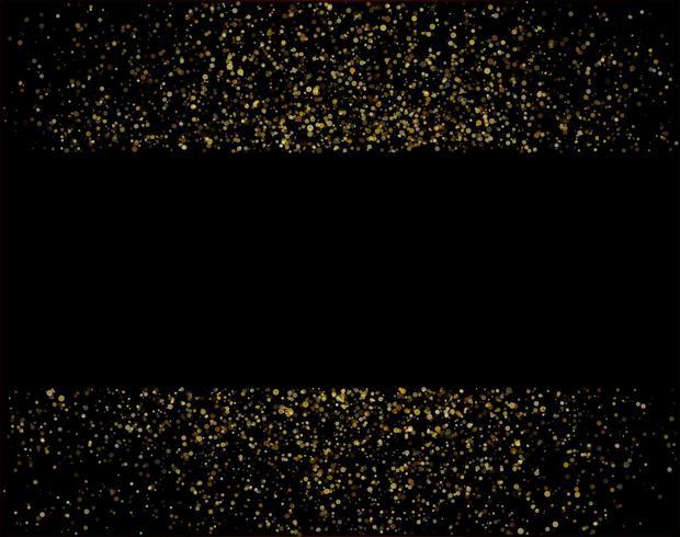 cascadas brillo dorado brillo burbujas burbujas partículas estrellas fondo negro feliz año nuevo concepto de vacaciones.