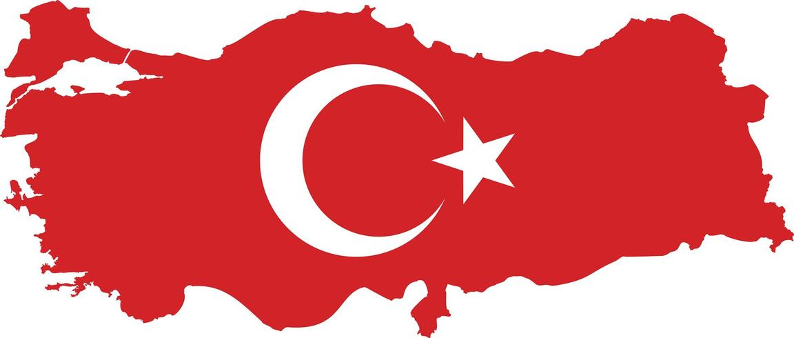 Turkey map with flag. flag map turkey country on digital ...