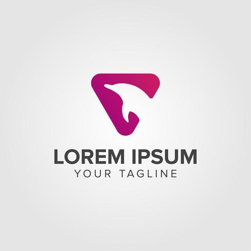 Diseño de concepto de logotipo de Creative Luxury Dolphin