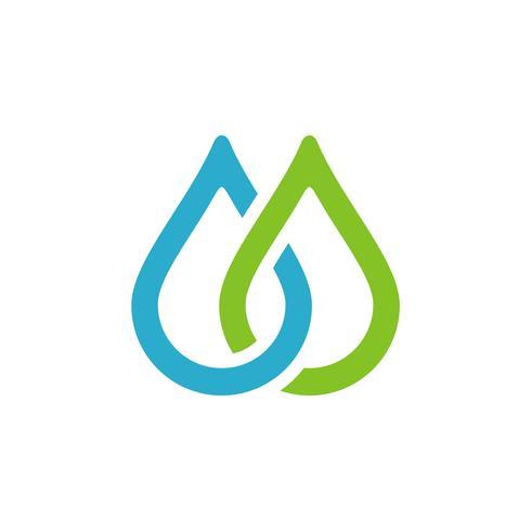 Droplet Logo Template. Drop Water Icon. Illustration Design. Vektor EPS 10.