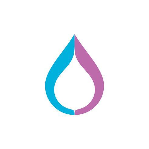 Tropfen-Wasser Logo Template Illustration Design. Vektor EPS 10.