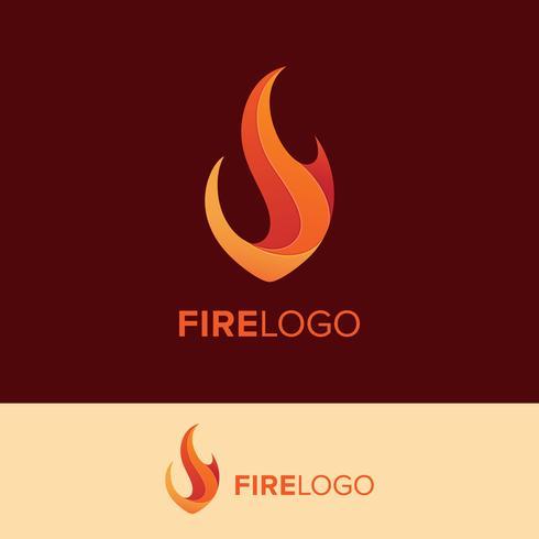 flame logo vector