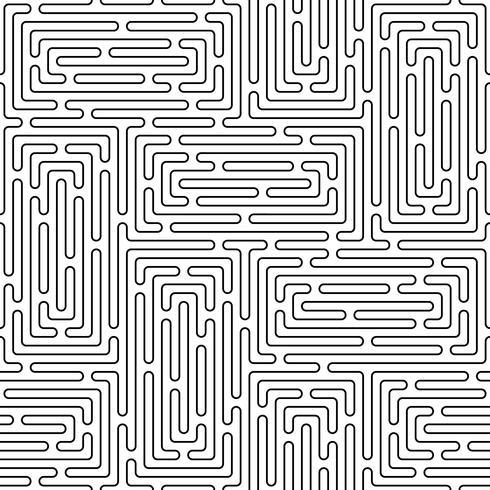 Monochrome doodle art deco abstracte naadloze achtergrond met lijn van de lijn.