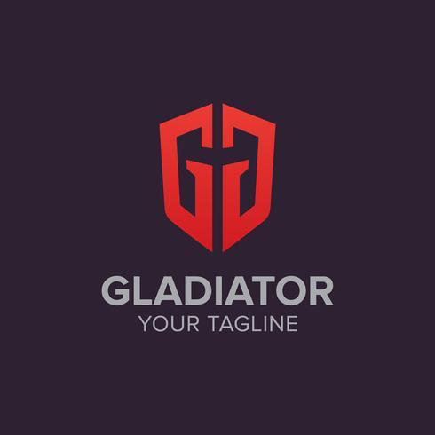 disegno vettoriale logo gladiatore