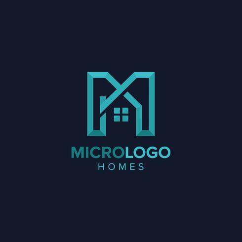 Buchstabe M Immobilien Logo I