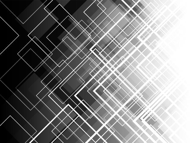 Capas cuadradas diagonales monocromos con el fondo abstracto.