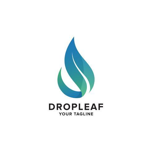 Aqua Leaf Logo Concept design template