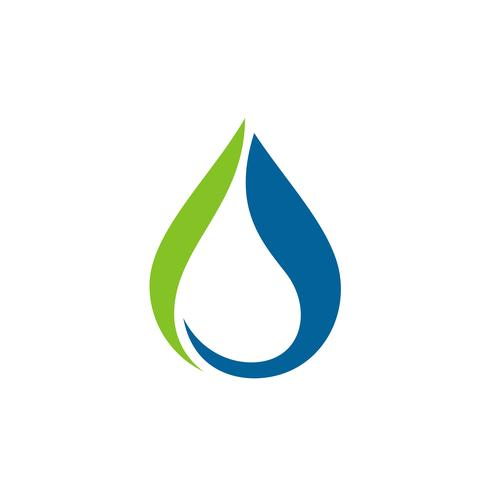 Caída de agua Logo plantilla ilustración diseño. Vector EPS 10.