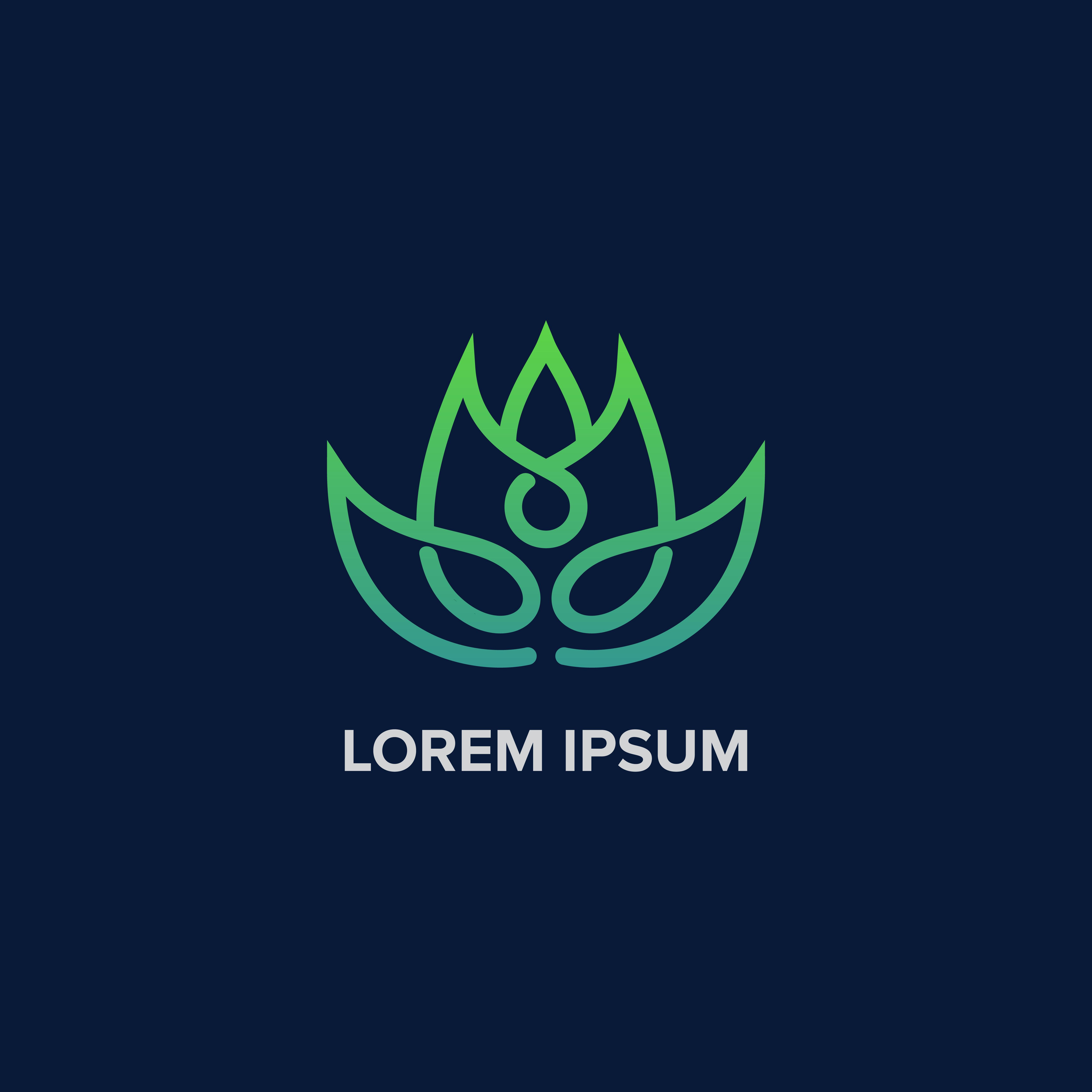 Creative Yoga Leaf Logo
