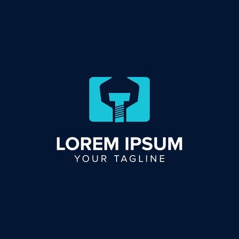 Conceito de design de logotipo mecânico criativo