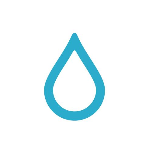Plantilla de logotipo de gota. Icono de gota de agua. Diseño de Ilustración. Vector EPS 10.