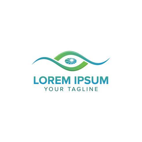 Conceito de Design de logotipo de visão ocular
