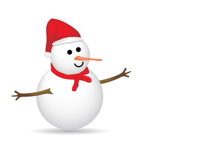 Feliz navidad muñeco de nieve vector