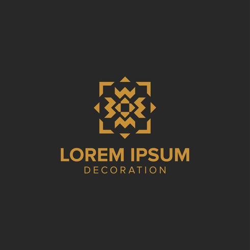 Conceito de logotipo de decoração criativa de luxo