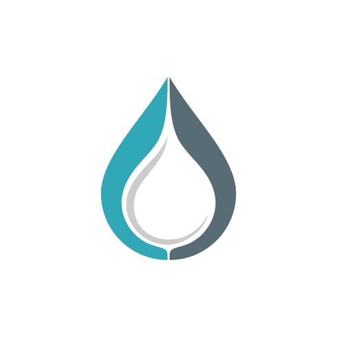 Tropfen-Wasser Logo Template Illustration Design. Vektor EPS 10.
