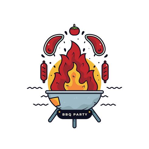 BBQ-feest Vector