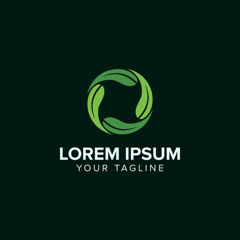 Feuille de cercle créatif Logo