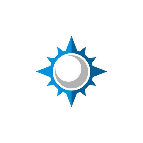 Kompas Rose Star Logo Template Illustratieontwerp. Vector EPS 10.
