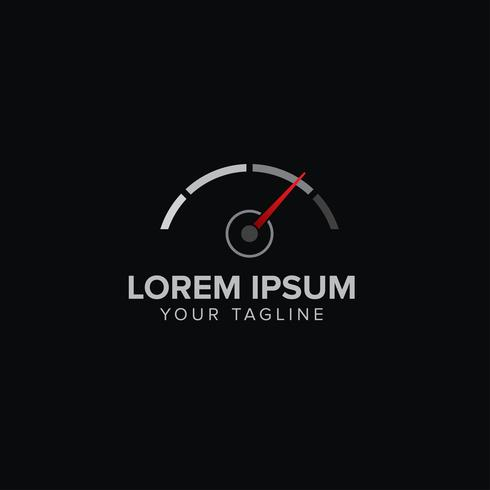 Concept de création de logo automobile créatif
