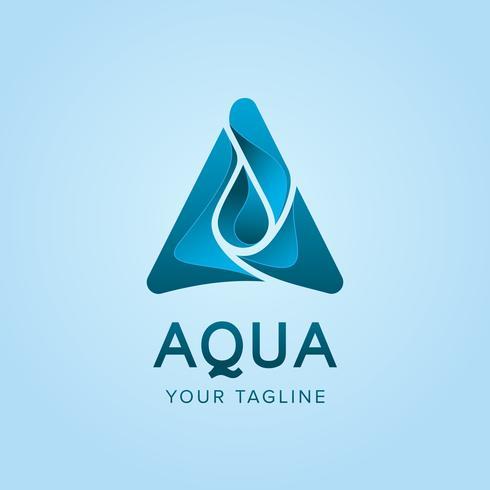 Design de conceito de logotipo do Aqua